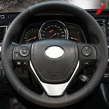 toyota rav4 steering wheel cover amazon com eiseng customized diy genuine leather steering wheel