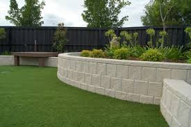 architecture garden design with simple black fence near small