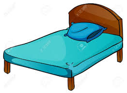 illustration of bed and pillow on a white background royalty free
