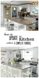 7 ways to update your kitchen on a budget white kitchen easy