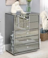 Mirrored Bedside Tables Vegas Smoke Mirrored Bedside Tables U0026 Tallboy Package Mirror
