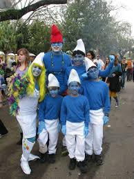 Smurfette Halloween Costume Diy Smurf Halloween Group Costume Idea 3 Diy Halloween Costume
