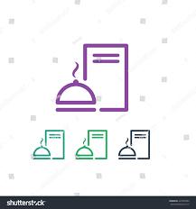 Kitchen Logo Design Restaurant Modern Kitchen Chef Logo Design Icon Flat Stock Vector