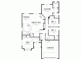 Floor Plan Of Bungalow Bungalow House Plan With 1850 Square Feet And 3 Bedrooms From