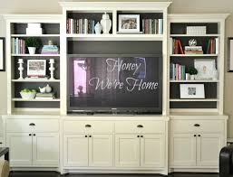 Entertainment Centers Home Staging Accessories 2014 Painted Media Cabinet U0026 Bookshelf Styling Honey We U0027re Home