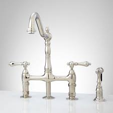 bridge faucet kitchen bellevue bridge kitchen faucet with brass sprayer lever handles