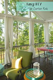 Pvc Pipe Patio Furniture Plans - easy and cheap diy pvc pipe curtain rods outdoor curtain rods