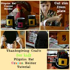 thanksgiving crafts pilgrim hat crayon holder tutorial