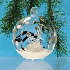 amazon com clear glass globe christmas ornament nativity scene