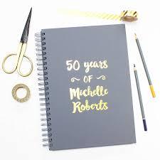 personalised milestone birthday memory book by martha brook