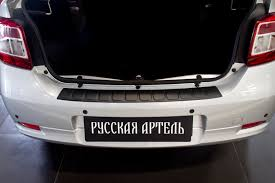renault logan trunk накладка на задний бампер renault logan с 2014 рено логан с 2014