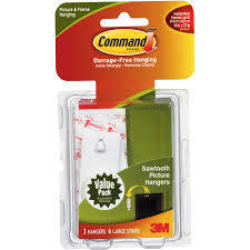 How To Hang Posters Without Damaging Walls by Command Sawtooth Picture Hanging Hooks 17042 Walmart Com