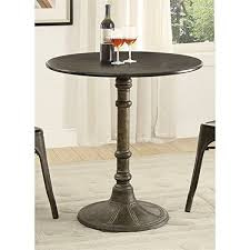 Industrial Bistro Table Industrial Bistro Table Oswego Distressed Black Metal