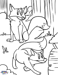 foxes u2013 coloring pages u2013 original coloring pages