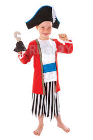 boys girls captain pirate costume with hook world book day fancy