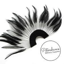 feather fan stripped hackle feather fan petershams millinery supplies