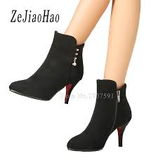 womens ankle boots sale fashion designer high heel shoes for cheap black winter