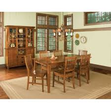 Arts And Crafts Dining Room Arts U0026 Crafts Buffet And Hutch Cottage Oak Finish Homestyles
