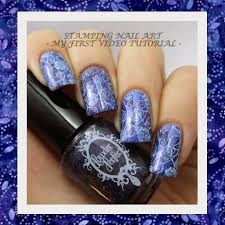 tutorial my first video tutorial stamping nail art the beauty