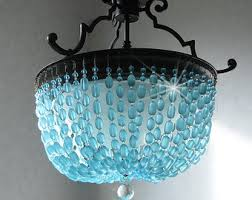 sea glass light fixtures etsy