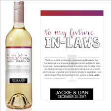 gifts for in laws gifts for inlaws personalized stickers labels for wine weddings