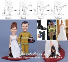 fireman cake topper firefighter wedding cake toppers fireman wedding cake toppers