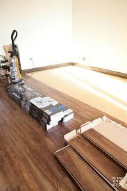 nucore waterproof luxury vinyl plank flooring that has a cork