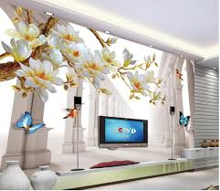 Magnolia Wallpaper Aliexpress Com Buy Fashion Magnolia Space Backdrop 3d Wall