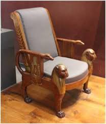 Egyptian Chair The World At Home Furniture Fashion In The Romantic Age Regency