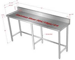 Customized Stainless Steel Work Prep Tables - Stainless steel kitchen tables
