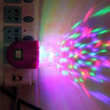 Disco Light Bulb Eu Plug 3w Colorful Auto Rotating Rgb Led Night Light Bulb Stage
