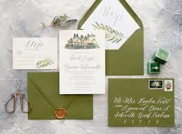 custom wedding invitation wedding invitations elisaanne calligraphy