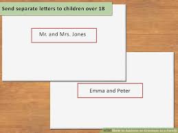 3 ways to address an envelope to a family wikihow