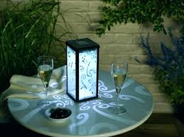 outdoor patio table lights solar outdoor table l table ls solar garden table light