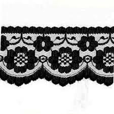 black lace trim lace by metre