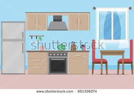 interior in kitchen modern kitchen luxurious apartment stock photo 310764101