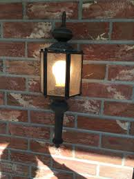 industrial house lights on craftsman style house
