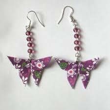 origami earrings origami butterfly earrings by sakuralu83 on deviantart