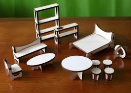 Modern Doll House Furniture by The Arc Flatpack Dollhouse Is Designed In Mid Century Modern Style