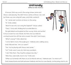 check out our anti bullying worksheets page read the stories and