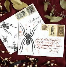 spider halloween mail art printables the postman u0027s knock