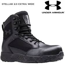 wide motorcycle boots under armour mens black stellar extra wide 2e tactical field duty