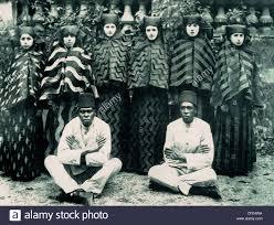 Harem Ottoman Last Concubines And Eunuchs Of Ottoman Harem In 1909 Stock Photo
