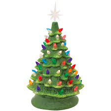 christmas tree with lights ceramic christmas tree with lights bronner s christmas