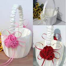 flower accessories online cheap flower girl baskets for wedding favors basket