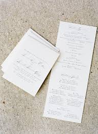 One Page Wedding Program Classic Alabama Wedding By Stephen Devries Southern Weddings