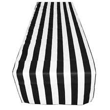 black white striped table runner cotton blend table runners ebay