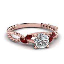 red diamond wedding ring amazon com rongxing jewelry red diamond