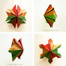 ornaments an origami snowflake