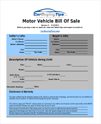 Auto Dealer Bill Of Sale Template by Sle Bill Of Sale Exles 10 Free Documents In Excel Pdf